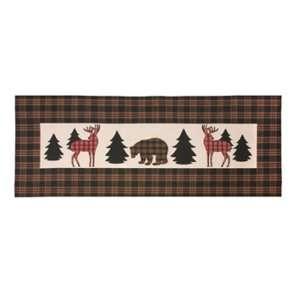 Lodge Bear Deer Indoor Outdoor Table Runner Climaweave