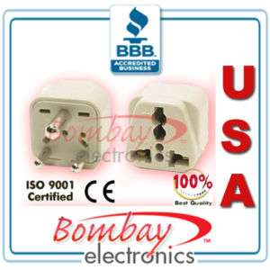 Grounded Universal Travel Plug Adapter Type D INDIA