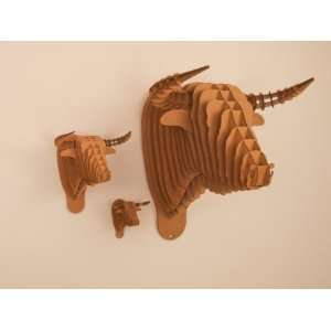 Toro The Bull Recycled Cardboard Sculpture Brown Micro