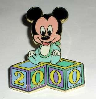 Baby Mickey Mouse Sitting on Blocks 2000 Disney Pin WDW