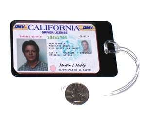 Back to the Future Marty McFly Luggage or Book Bag Tag