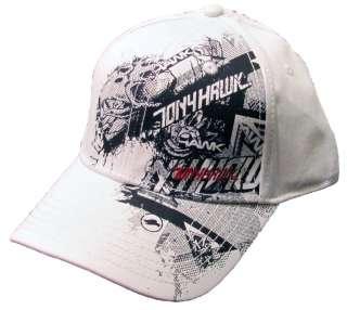 Tony Hawk White/Black/Red Hat Mens One Size NWT $20