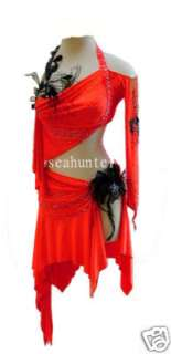 L332 Lady Ballroom Competition Latin Dance Dress US12