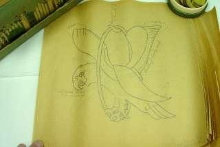 100+ Antique Quilt Embroider Stencil Lot 1911 Vintage Newspaper Drawn