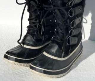 400 SOREL JOAN OF ARCTIC RESERVE WINTER SNOW BOOTS BLACK WOMENS US 8