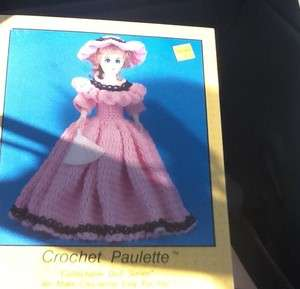 Crochet PAULETTE Barbie Doll Dress Pattern Victorian Dress TD