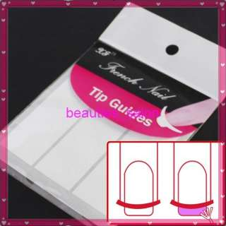 French Manicure Tip Guide Strip Nail Art Form Sticker