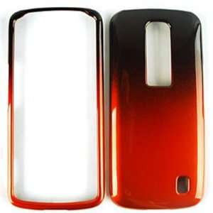 LG Optimus Net P960 Two Tones, Black and Orange Hard Case