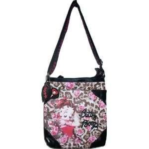 Betty Boop Messenger Bag Purse Cross Body Shoulder Embroidered Sequin