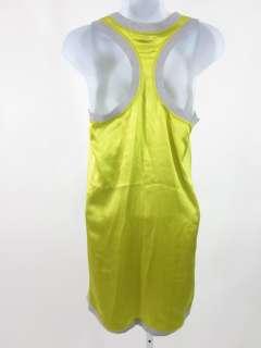 NWT HAUTE HIPPIE Chartreuse Silk Racerback Tank XS $275