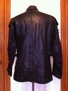 HEIN GERICKE BLACK LEATHER MOTORCYCLE JACKET SIZE 40