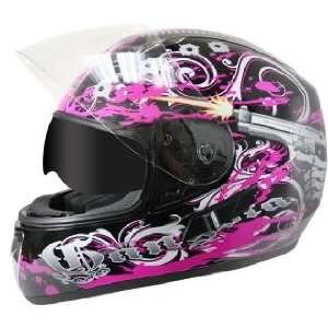 Graphics with Dual Visors Motorcycle Helme Sz XS