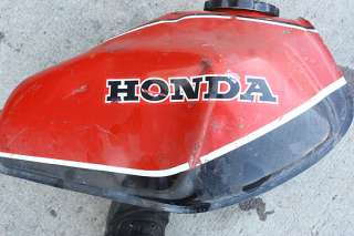 1981 HONDA XR500 OHC JH2 GAS/FUEL/PETROL TANK RED