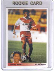1997 PANINI THIERRY HENRY ROOKIE SOCCER / STICKER CARD