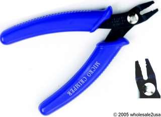 Bead Pliers Hand Crimping Micro Euro Tool +Flush Cutter