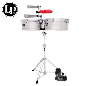 LP Latin Percussion Prestige Timbales Set   14 & 15 Stainless Steel