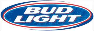 Bud Light Beer Logo Vinyl Decal Sticker Laminated   9 x 3   Medium