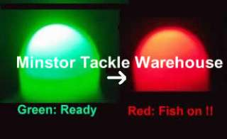 Fishing rod Pole/Tip Instant Strike Alert Light Indicator