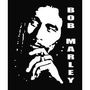 Bob Marley Die Cut Vinyl Decal Sticker 7 White