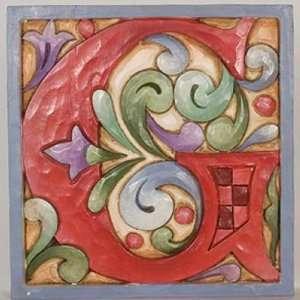 Jim Shore Monogram Red Alphabet Letter Display G NEW