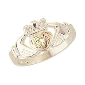 Yellow gold Black Hills Gold Womens Claddagh Ring Size 6: Jewelry