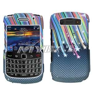 BLACKBERRY BOLD 2 ONYX 9700 CARBON RAINBOW STARS DESIGN