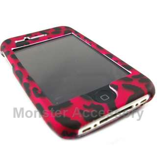 Protect your Apple iPhone 3G with Pink Leopard Rubberized Hard Cover