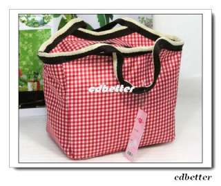 Durable Lovely Red Plaid Style Womens Girls Quality Small Tote Handbag
