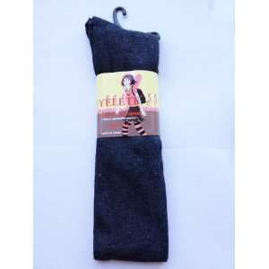 Gray Solid Color Thigh High Socks Size 9 11