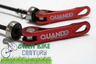 Bicycle Bike QUANDO Wheel Quick Release Skewers Front Rear Red