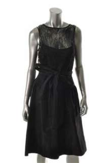 Teri Jon NEW Black Cocktail Dress Silk Sale 14