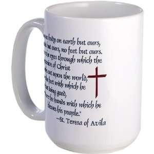 St. Teresa of Avila Quote Christian Large Mug by CafePress