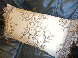 Lumbar Pillow elegant Beacon Hill embroidered silk Clarence House trim