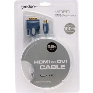 DVI D to HDMI Cable (6.6ft) (2 Meters) (High Quality) 100%