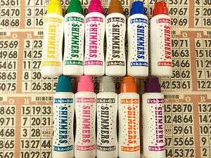 12PK OF SPARKLE/SHIMMER BINGO DAUBERS HOT NEW COLORS
