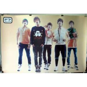 F.T. Island horiz dark beige POSTER 34 x 23.5 Korean boy band FT