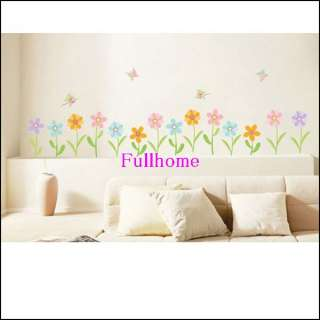 Lots Flower Wall Stickers Mural Deco Décor Decal,R043