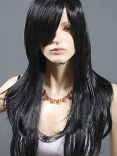 Black Layer Long Women Cosplay Costume Party Wig 68cm