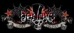 New Lucky Tatoo border biker shirt, Dragonfly, L