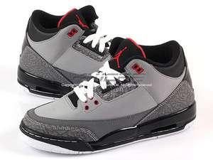 Jordan 3 III Retro (GS) Stealth/Vrsty Red Black Boy 398614 003