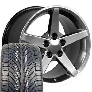 17 Fits Camaro Corvette   C6 wheels tires   Hyper Black