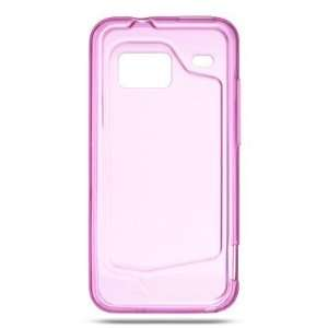 TPU Skin Cover for HTC DROID Incredible, Clear Hot Pink