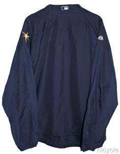 Tampa Bay RAYS MLB AUTHENTIC MAJESTIC Cool Base JACKET ZIP OFF Sleeves