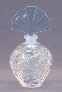 Czech / German Lead Crystal Perfume Bottle Bird in Flight