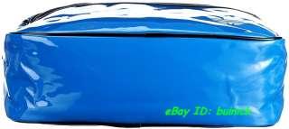 ADICOLOR AIRLINE BAG PATENT Blue White messenger flight shoulder NEW