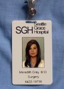 Greys Anatomy Meredith Grey Seattle Grace Hospital ID