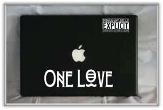 Bob Marley One Love Quote Laptop Car Vinyl Decal Skin