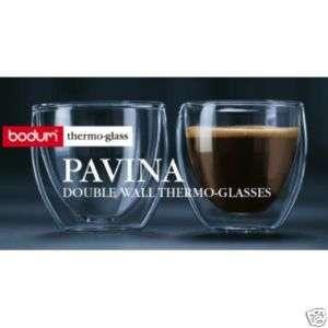 Bodum Pavina 2 Oz Double Wall Espresso Shot Glasses