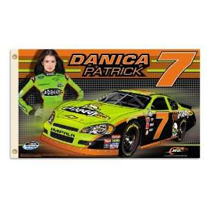 NASCAR Danica Patrick #7 2 Sided 3 by 5 Foot Flag with