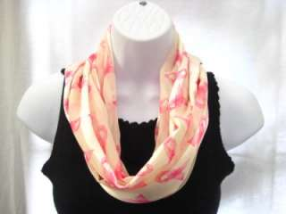 NEW BREAST CANCER AWARENESS SCARF PINK RIBBONS SCARF
